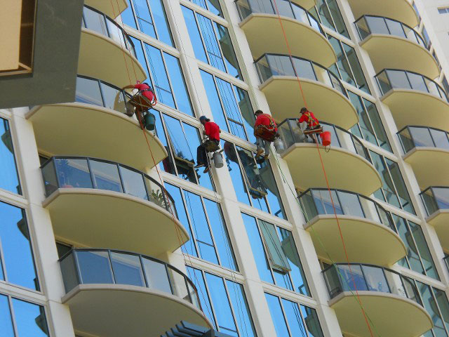 Cleaning a High Rise